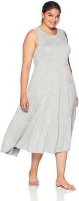 Lucky Brand Women's Size Plus Open Back Smocked Dress