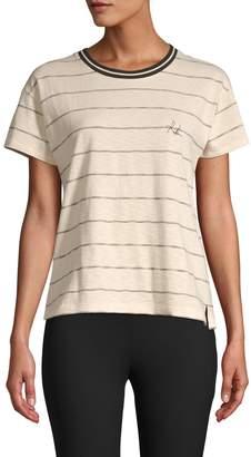 Rag & Bone Stripe Short-Sleeve Cotton Tee