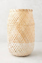 Anthropologie Dinant Wicker Candle Holder