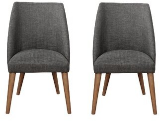 Brayden Studioâ® Dourdain Dining Chairs Dark Grey And Dark Cocoa (Set Of 2) Brayden StudioA