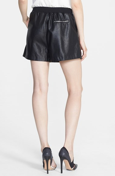 Blank NYC BLANKNYC Faux Leather Pleated Shorts