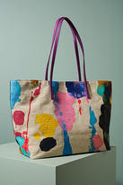 Bea Valdes Abstract Painted Tote Bag