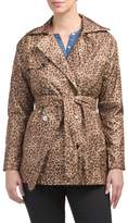 Leopard Mid Length Trench Coat