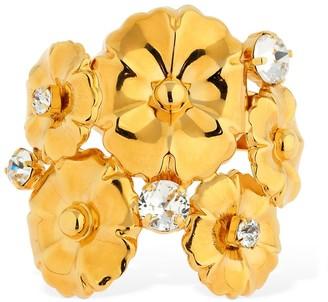 Ca&Lou Ortensia Flower Cuff Bracelet W/crystals