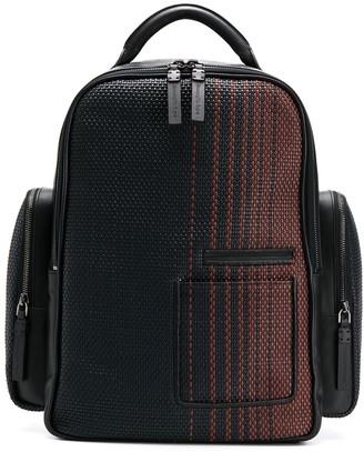 Ermenegildo Zegna Woven Design Backpack