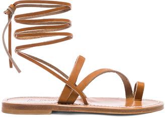 K. Jacques Ellada Ankle Wrap Sandal in Pul Natural   FWRD