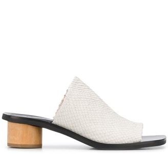 Christian Wijnants Aisha 45mm snakeskin-effect mules