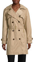 Michael Michael Kors Double-Breasted Button Trench Coat with Belt