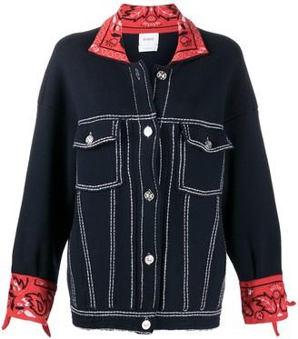 Barrie Oversized Cashmere Bandana Jacket