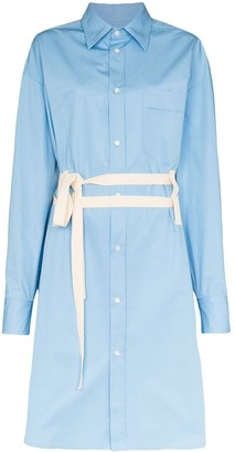 Plan C Belted Shirt Dress