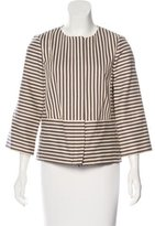 Tory Burch Striped Collarless Jacket