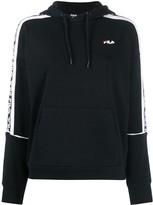 Fila logo panelled hoodie
