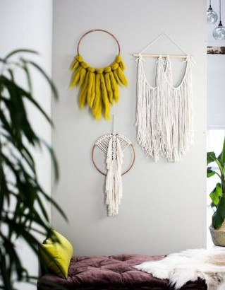 The Forest & Co. - Boho Macrame Wall Hangings - Natural hung on soft wood