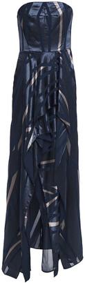 Halston Strapless Devore-velvet Gown