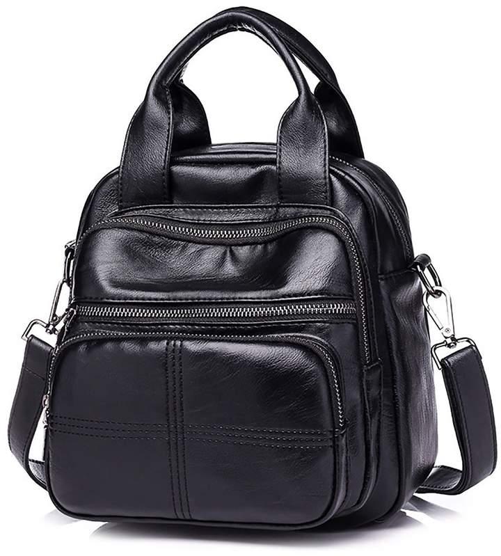 c2fd3d5b9456 SDINAZ Mini backpack in PU Leather Shoulder Bag handbag Three usage bag for  women