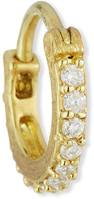 Jude Frances 18K Petite Pave Diamond Hoop Earring, Single