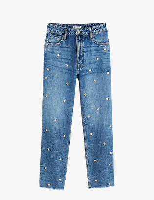 Claudie Pierlot High-rise embellished denim jeans