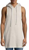 Hudson Men's Sleeveless Pullover Hoodie, Gray