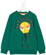 Fendi lightning bulb print sweatshirt - kids - Cotton/Spandex/Elastane - 3 yrs