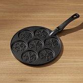 Crate & Barrel Nordic Ware ® Snowflake Silver Dollar Pancake Pan