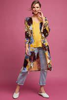 Anthropologie Aurelia Velvet Floral Kimono