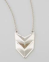 Rebecca Minkoff Silvertone Double-Chevron Necklace