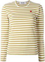 Comme des Garcons mini heart striped T-shirt - women - Cotton - M