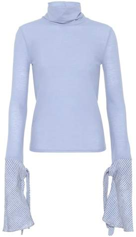 Acne Studios Cleo cotton turtleneck top