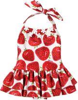 MonnaLisa Strawberry Lycra One Piece Swimsuit