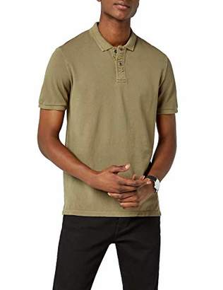 Jack and Jones VINTAGE Men's JJVWILLIAM SS POLO NOOS Polo Shirt, Green (Capers), Large