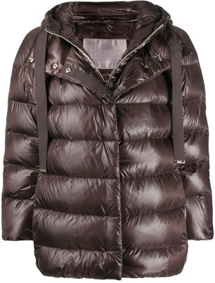 Herno Metallic Effect Puffer Jacket