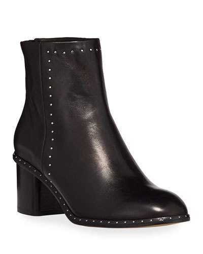 Rag & Bone Willow Studded 50mm Ankle Boot, Black