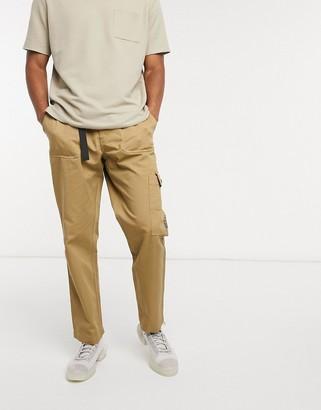 Entente webbed belt cargo trouser in beige