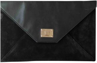 Jimmy Choo Rosetta Black Suede Clutch bags