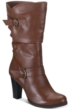 Style&Co. Style & Co Sachi Block-Heel Mid-Shaft Boots, Created for Macy's Women's Shoes