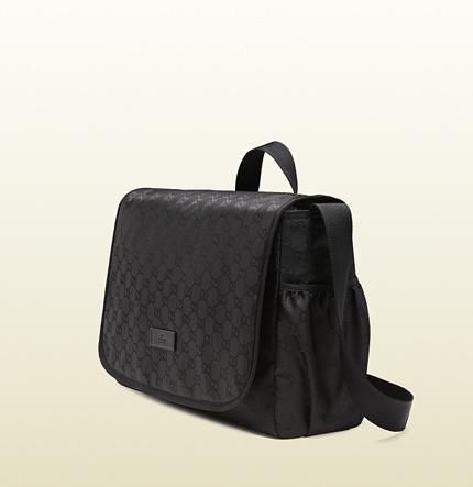 Gucci Black Nylon Guccissima Diaper Bag