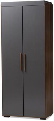 Design Studios Rikke Wood 7-Shelf Wardrobe Storage Cabinet