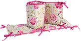 Waverly Pink & Taupe Jazzberry Crib Bumper Set