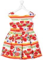 Lula Abel & sleeveless pleated floral print dress
