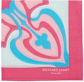 Richard James MEN'S DECO-CROSS-PRINT COTTON POCKET SQUARE