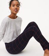 LOFT Petite Windowpane Seamed Ponte Leggings