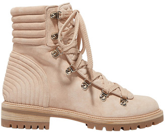 Christian Louboutin Quilted Suede Ankle Boots