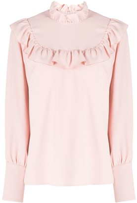 RED Valentino Ruffled Long-Sleeved Top