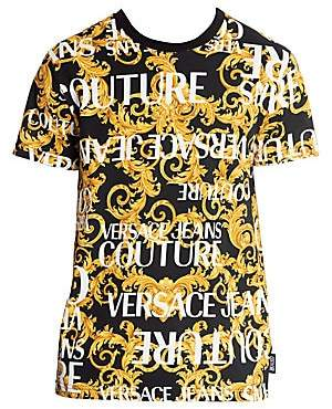 Versace Men's Baroque Logo Print T-Shirt