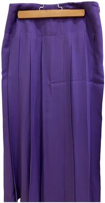Fendi Purple Silk Skirts