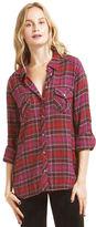 C&C California Crinkle herringbone plaid 2 pocket shirt