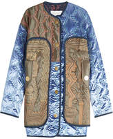 Peter Pilotto Velvet Quilted Jacket with Contrast Stitching