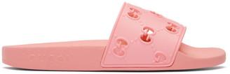 Gucci Pink GG Pool Slides