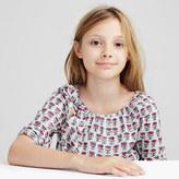 J.Crew Girls' fuchsia gingham shirt