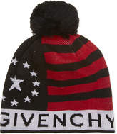 Givenchy Stars and stripes wool-blend beanie